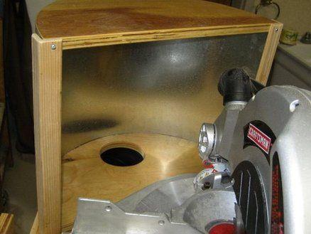 Chop Saw dust collection by Geedubs on Lumberjocks