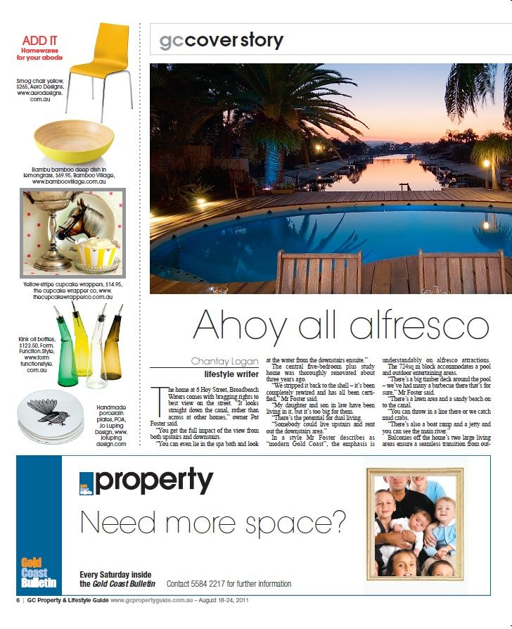 Check out our feature in Gold Coast property from August 2011. #press #Bamboo