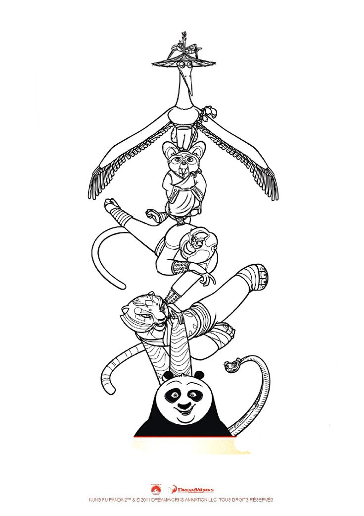 Kung fu panda coloring pages - Coloring for kids : coloriage-kung-fu-panda-3