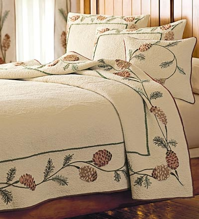 Pine Cone Quilt And Accessories In 2019 Woodlands