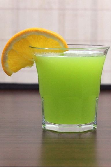 Gatorade Cocktail with Midori, vodka, Cointreau, orange juice and sour mix. Get this drink recipe at http://mixthatdrink.com/gatorade/