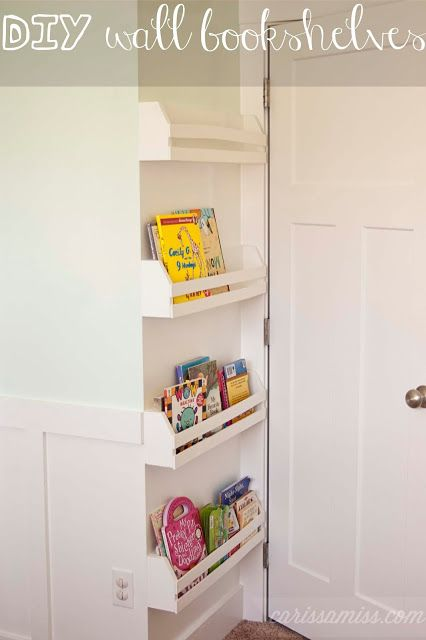 A great DIY project (and a great taste in books - is that My Pretty Pink Sticker and Doodling Purse that I spy on the bottom shelf?)