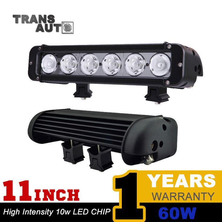 car led light 11 INCH 60W LED LIGHT BAR FOR OFF ROAD LIGHT BAR FLOOD SPOT COMBO BEAM LED DRIVING LED BAR Lamp SUV ATV