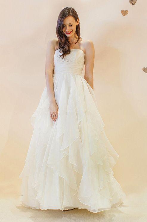 Ruffled wedding dress skirt, Ivy & Aster, Spring 2013