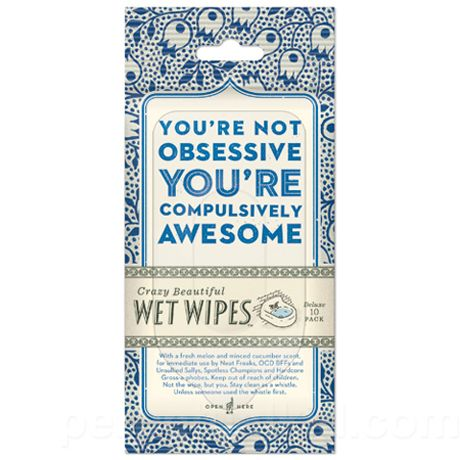 Compulsively Awesome Wet Wipes. Hehe. $4