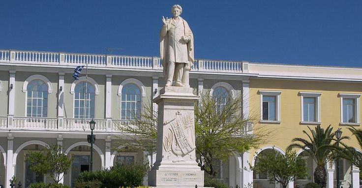 Dionysus Solomon Statue. Visit it in the center of #Zakynthos in the Solomos Square.