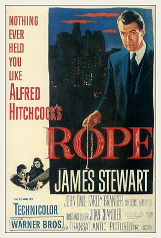 Rope - Alfred Hitchcock - brilliant film where the entire film is acted on one set with only perhaps 6 or 7 cuts in the filming. It is also vaguely based on the Leopold and Leob case                                                                                                                                                      More