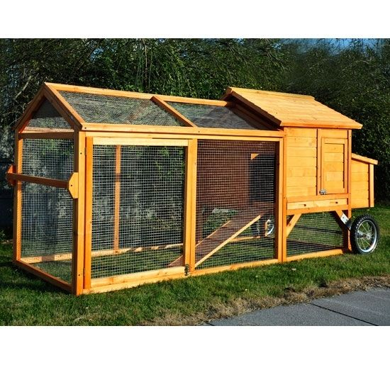 Pawhut deluxe portable backyard chicken coop for Portable coop