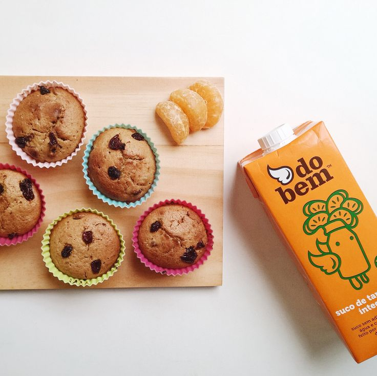 Muffin de cranberry com suco de tangerina! @dailyplates