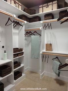 Custom built in shelves for the closet!