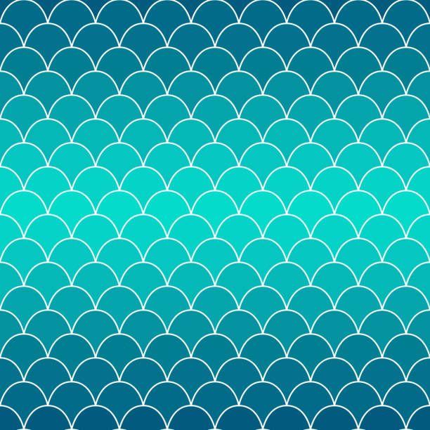 Textura De Escamas De Pescado. Fondo En Azul Degradado