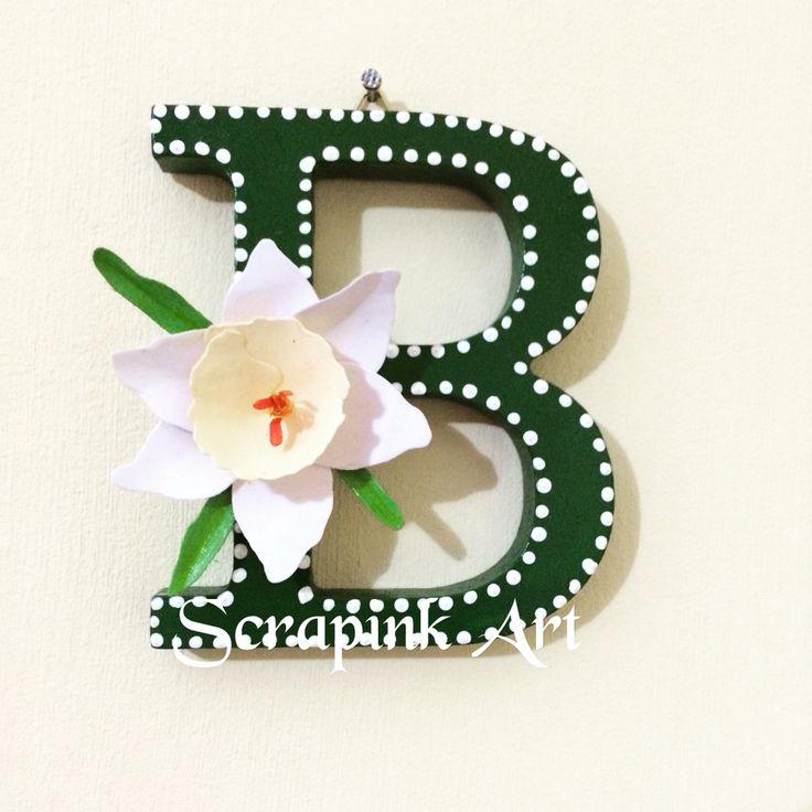 Lettera decorata❤️  #legno #fattoamano #amico #compleanno #decorata #comunione #scrapbooking #bigshot #fustelle #acrilico #bomboniere #evento #festa