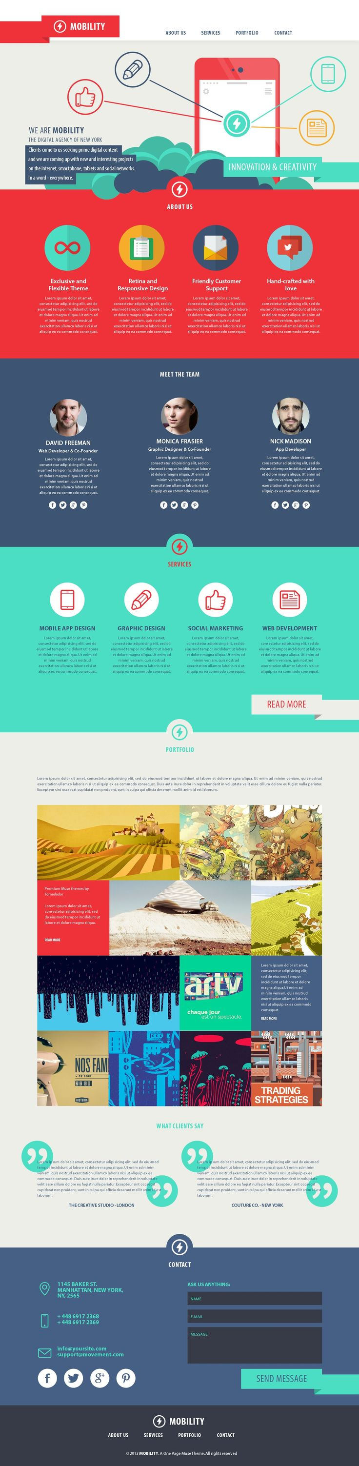 Mobility - One Page Muse Theme http://themeforest.net/item/mobility-one-page-muse-theme/6177434?ref=wpaw #web #design #muse
