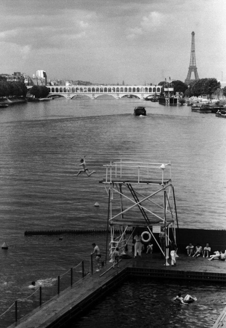 Willy Ronis Piscine sur la Seine, Paris, 1957  gelatin silver print, mntd on wood