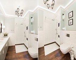 Apartament Novum - Średnia łazienka w bloku bez okna, styl nowojorski - zdjęcie od AgiDesign