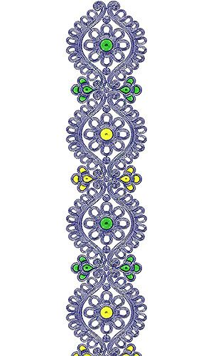 Printable Cording Lace Embroidery Design
