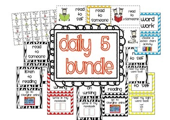 Free Daily 5 Bundle...task cards, and bookmarks for rotations