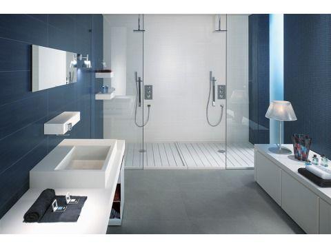 25 beste idee n over blauw grijze muren op pinterest badkamer verf kleuren slaapkamer verf - Badkamer blauw ...