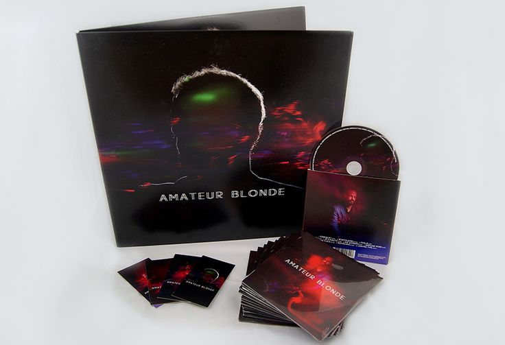 CD packaging and vinyl sleeve designs (plus some other prints) for Amateur Blonde Music.