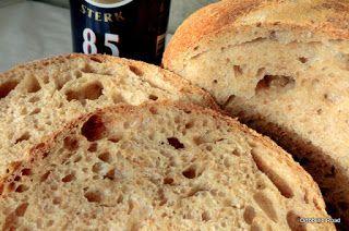 Pan di Pane: Ricetta Pane semi integrale alla birra con 100% d'idratazione.