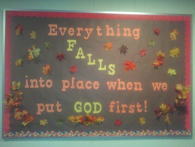 The bulletin board created for church