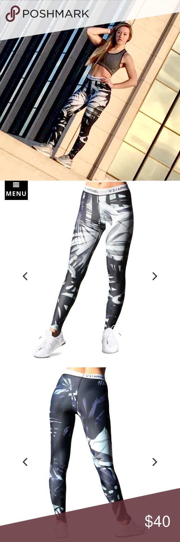 V3 Apparel Bermuda Leggings Wore once for a photoshoot. High-Rise. Squat-Proof (White lining on inside). Sold Out online :) Will negotiate if price is right! TAGS: Lululemon Gymshark Nike  Follow Me:  Instagram @nikiblackwelder Twitter @nikiblackwelder lululemon athletica Pants Leggings