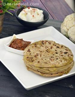 Aloo Gobi Ke Parathe, Aloo Cauliflower Paratha Recipe recipe | Punjabi Recipes | by Tarla Dalal | Tarladalal.com