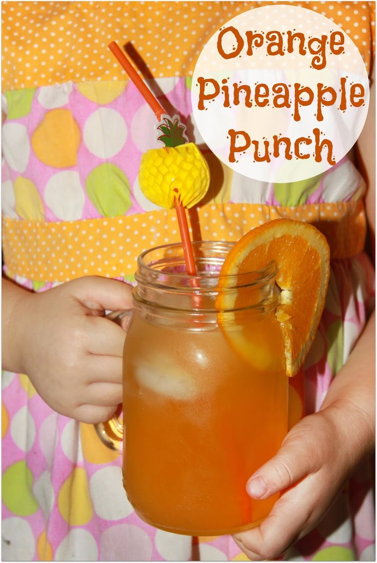 End of Summer Orange Pineapple Punch- a favorite kid friendly party drink!