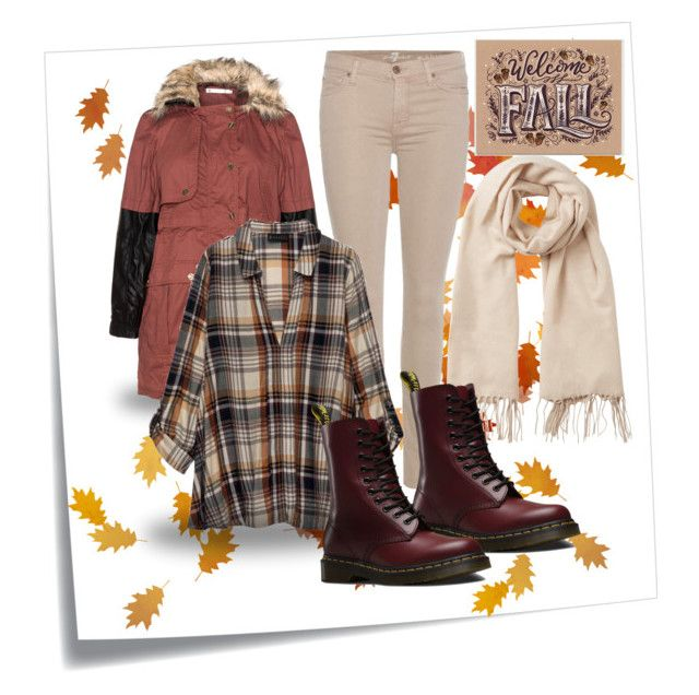 """Fall #2"" by siggan22 on Polyvore featuring Post-It, 7 For All Mankind, Studio, Bobeau, Vero Moda and Dr. Martens"
