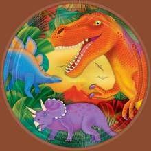 Πιάτα μετ. 22.8εκ Δεινόσαυροι 8 τεμ