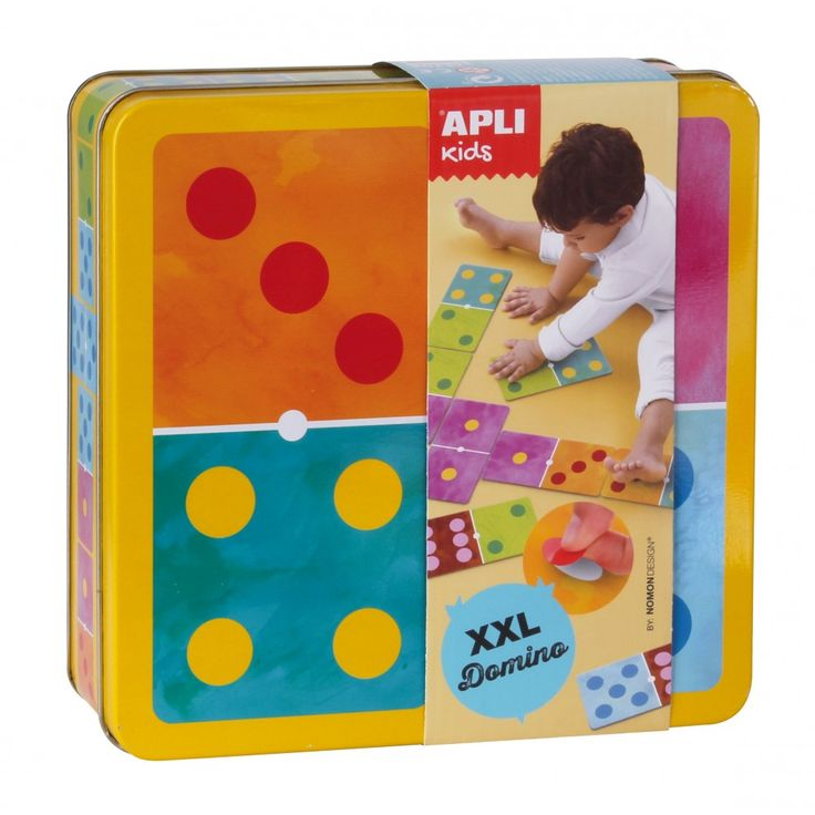 XXL dominó matricázó fémdobozban - Apli Kids