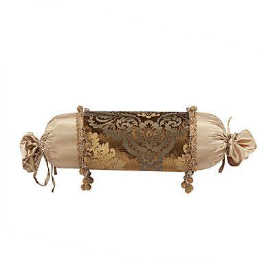 velvet decorative neck roll pillow cover