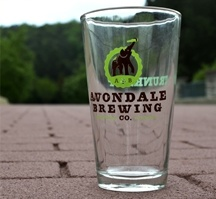 Avondale Brewery Trunks Up Pint Glasses!