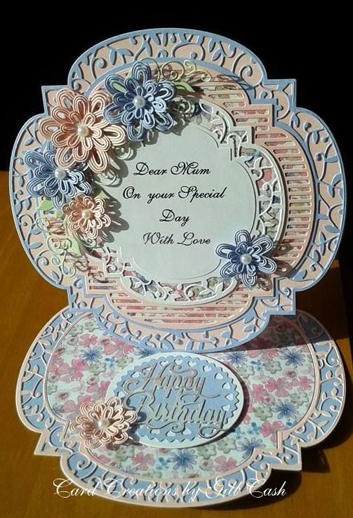Made by Gill Cash - This card I made for my mum's birthday using Tonic dies purchased recently from C & C.