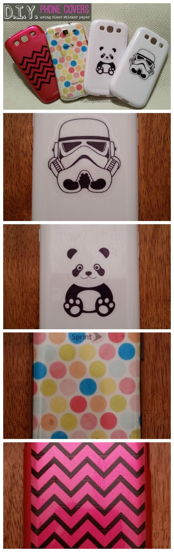 Sticky paper for crafts - Diy Phone Covers With Silhouette Clear Sticker Paper