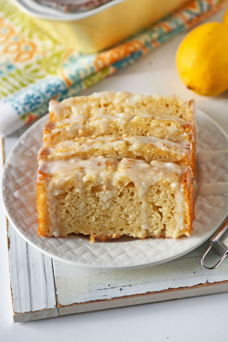 Lemon Loaf With Sour Cream Glaze Recipe Candy Recipes Homemade Lemon Loaf Dessert Recipes
