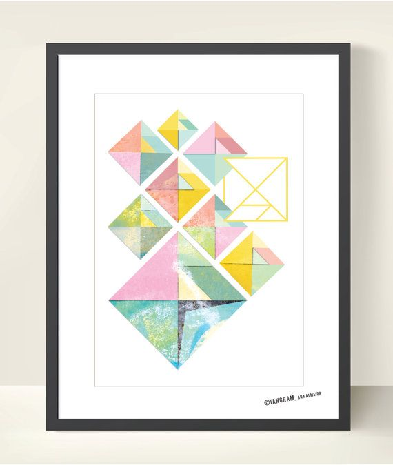 Geometric Art TANGRAM Abstract Wall Decor A3 by TANGRAMartworks, $18.50