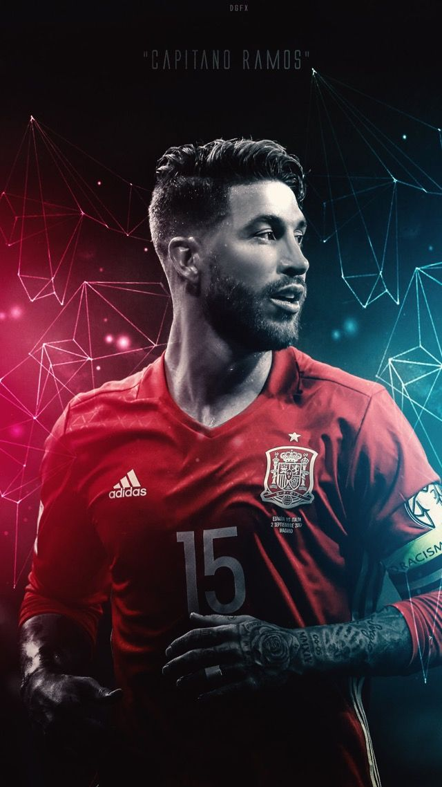 Sergio Ramos of Spain wallpaper.