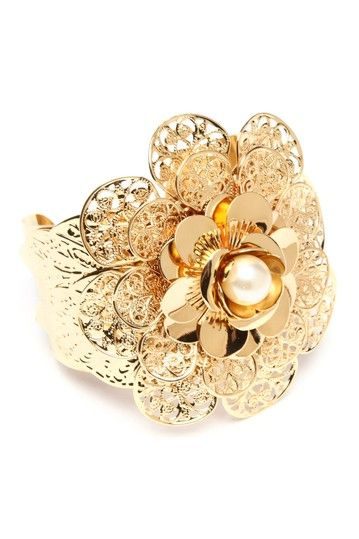 Thelma Cuff by Amrita Singh on @HauteLook.  What a pretty bauble! Yellow gold is making a comeback!