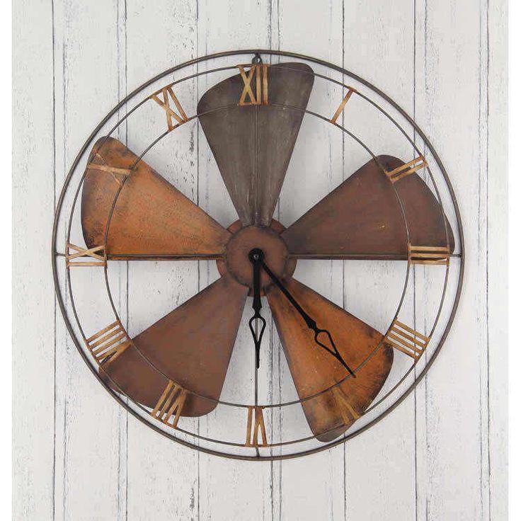 Industrial fan wall clock, available at Interiosity, Douglas, Cork.