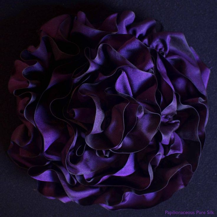 ruffled silk ribbon.  #purple #silkribbon #trim #millinery #corsetry #couture #costuming #verypapilionaceous