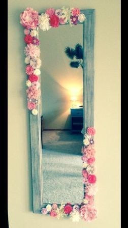 This would be SO cute for the hallway between the girl's bedrooms! Except I would do the flowers all the way around.