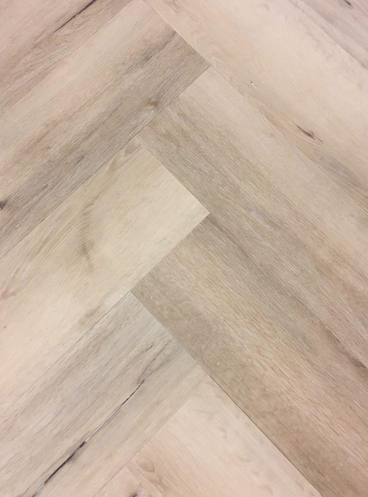PVC visgraat vloer, Light oak / licht eiken. (herringbone)