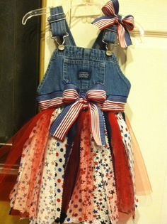 Add underskirt & top with with strips of fabric & tulle (as for a tutu). Elasticize waist to allow for growth if for kids; add flower or lace to bodice to soften overall effect.