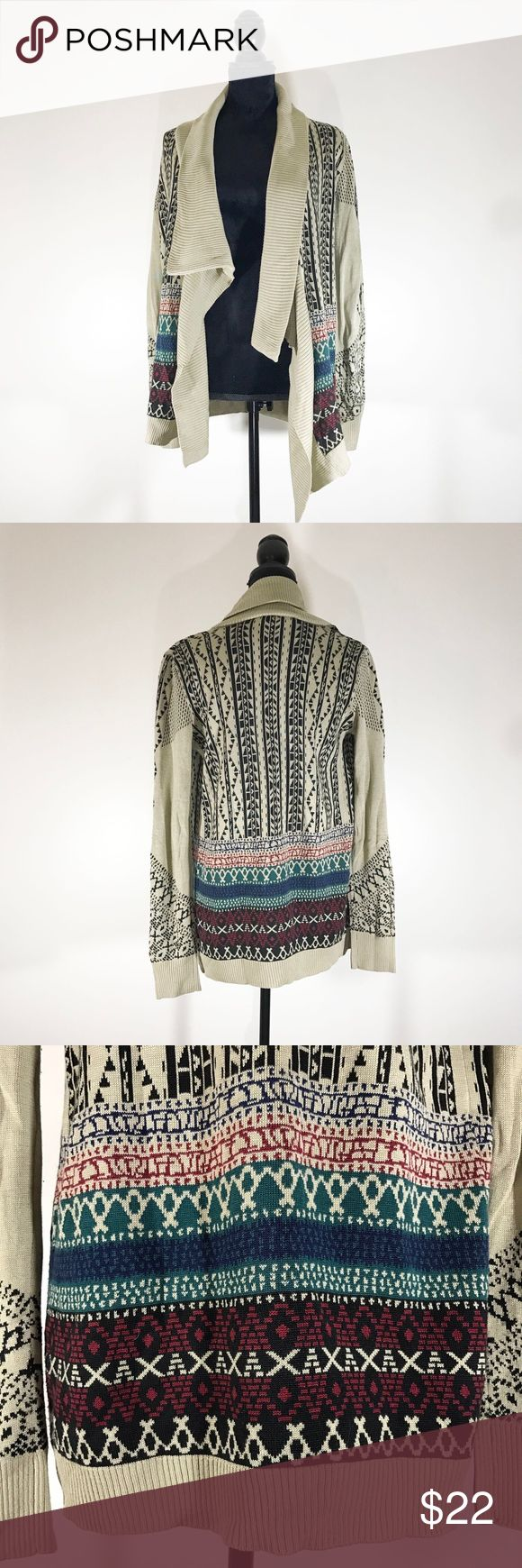 Staring at Stars Tribal Sweater Multicolored open shawl/sweater.   Length 26.5 inches  Bust 16 inches Staring at Stars Sweaters Cardigans
