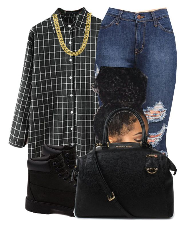 """Untitled #136"" by jaziscomplex ❤ liked on Polyvore featuring Timberland, Michael Kors, women's clothing, women's fashion, women, female, woman, misses and juniors"