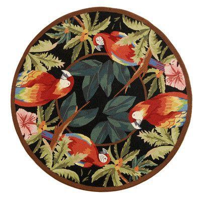 Safavieh Chelsea Tropical Parrot Novelty Area Rug Rug Size: