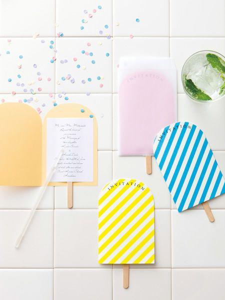 アイスキャンディー招待状 手作り結婚式のすすめ「幸せのたね。」