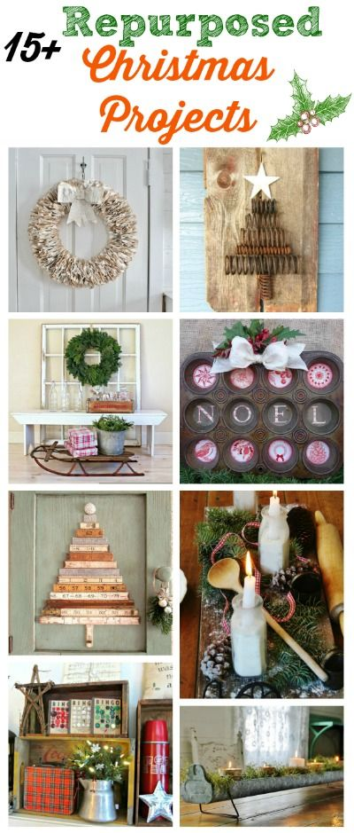 Repurposed Christmas Decor using Salvaged and Junk Elements - KnickofTime.net