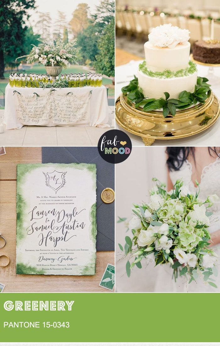 180 best wedding trends images on pinterest weddings copper and pantone greenery 15 0343 pantones colour of the year for 2017 junglespirit Choice Image